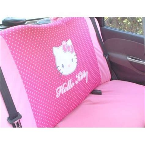 hello kitty bench seat covers best deals hello kitty sanrio polka dots car truck suv