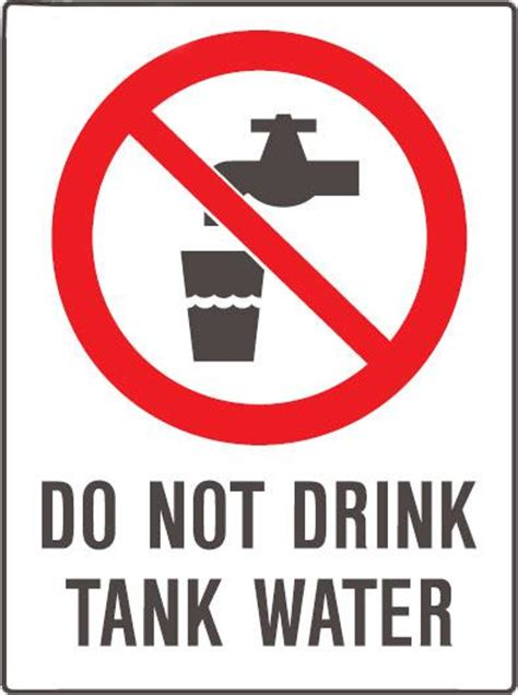 not water do not drink tank water