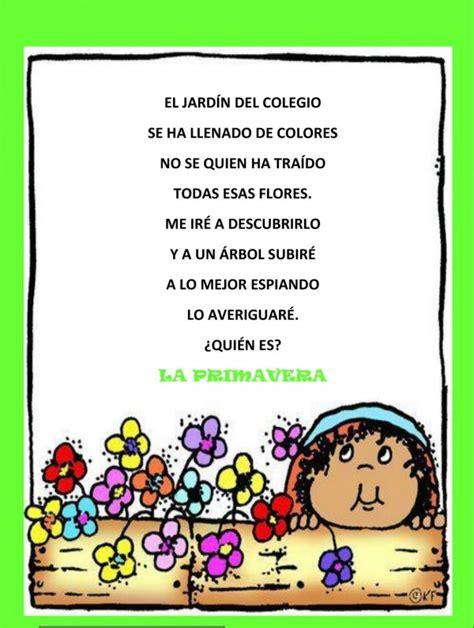 poemas infantiles de 4 estrofas poemas infantiles de primavera para descargar gratis