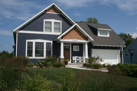 Blue Craftsman House | hardie board and cedar project pinterest cedar