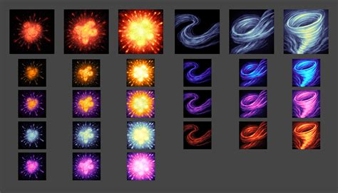 painterly spell icons part  opengameartorg