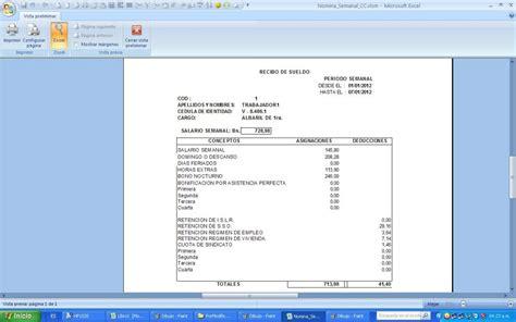 sueldos de la construccion nomina semanal contrato de la construcci 243 n vigente
