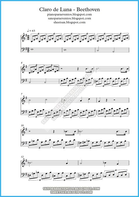 tutorial piano claro de luna sheet music of moonlight sonata piano sonata no 14 by