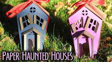 How To Make A Paper Haunted House - how to make paper haunted houses bootorial