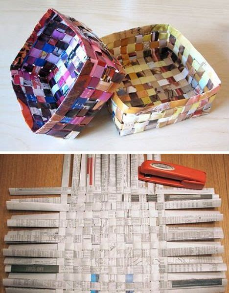 How To Make Paper Out Of Magazines - 151 best recycled ideas images on crafts