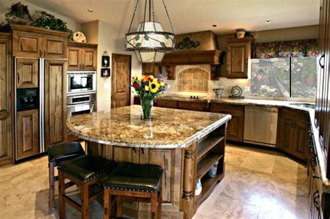 kitchen kitchen island with seating with cabinet design