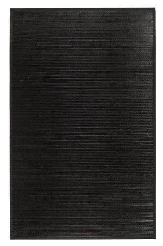 black bamboo rug bamboo black 5 x8 area rug area rugs shop