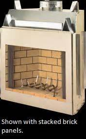 fireplace refractory panels home depot vantage hearth oracle outdoor wood burning firebox with