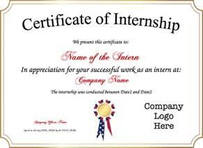 internship certificate template certificate of internship template
