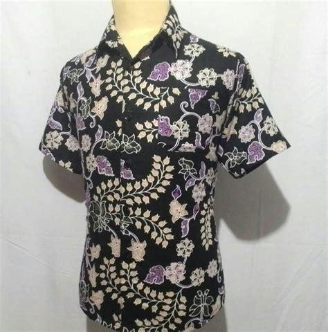Baju Batik Pria Slimfit Bahan Katun jual kemeja baju hem batik pria cowok laki slimfit junkies katun h1 javabatika