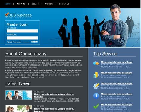 Free Html Website Templates For Business free business website templates learnhowtoloseweight net