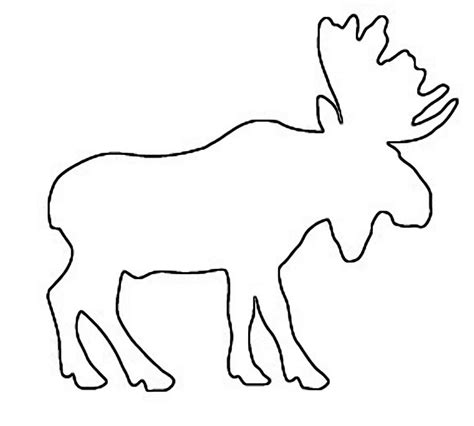 Moose Deer Free Saw Patterns Moose Cut Out Template