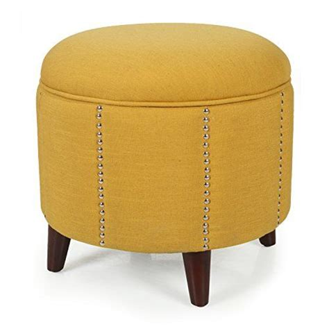 round yellow ottoman 17 best ideas about round storage ottoman on pinterest