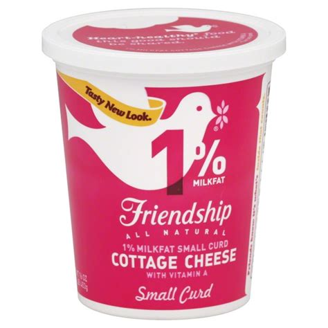 cottage cheese nutrients friendship cottage cheese 1 milkfat small curd from