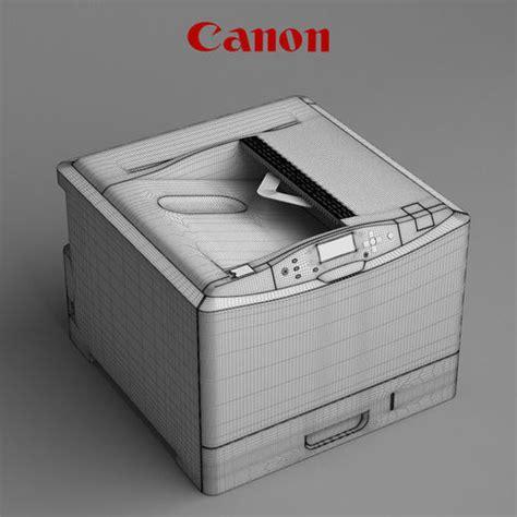 Printer 3d Canon printer canon i sensys lbp7780cx 3d model max obj mtl cgtrader