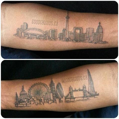 watercolor tattoos in toronto toronto skyline search dozers