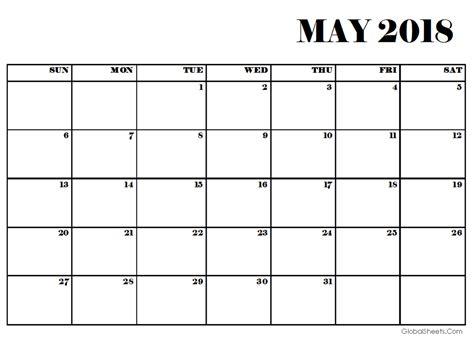 printable calendar may 2018 may 2018 pdf calendar printable