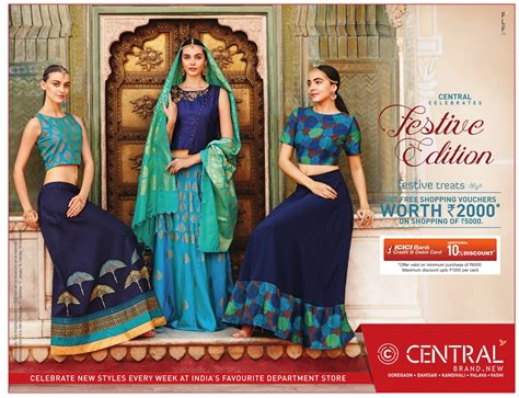 Central Gift Card India - central shopping mall festive edition icici bank credit cards 10 discount ad advert