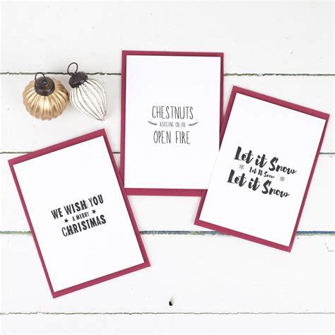 card lyrics festive song lyrics card pack by russet and gray