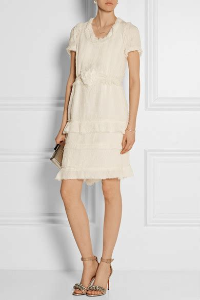 Lanvin Tiered Silk Gazar Dress by Lanvin Tiered Crinkled Silk Chiffon Dress Net A Porter