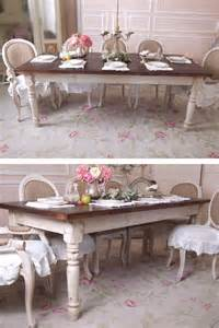 shabby french chic farmhouse farm table brown rustic