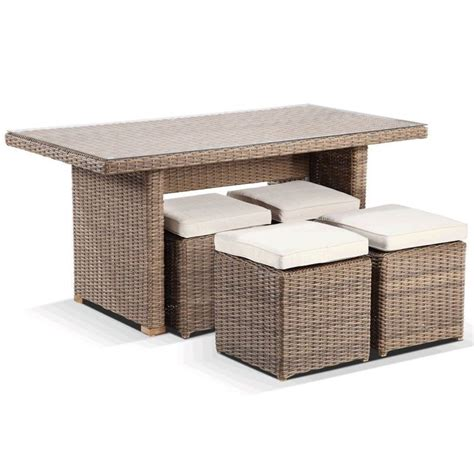 Small 4 Seater Dining Table Small 4 Seat Wicker Outdoor Dining Table Set Wheat Buy 4 Seat Dining Sets