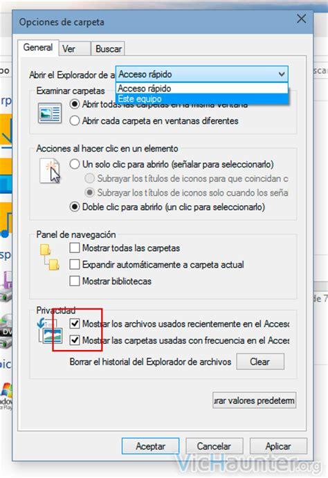quitar imagenes cuenta windows 10 como deshabilitar el acceso r 225 pido en el explorador de