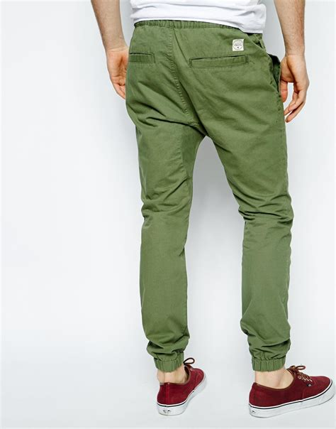 Chino Joger lyst youth chino jogger in green for
