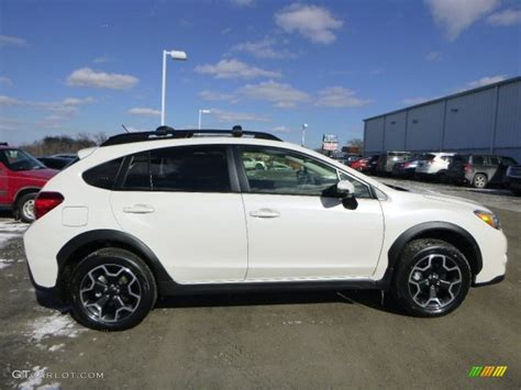 white subaru crosstrek crystal white pearl 2015 subaru crosstrek 2 0i limited