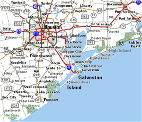 map of texas cities near houston texas