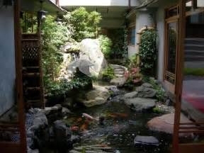 inside garden homes with indoor ponds