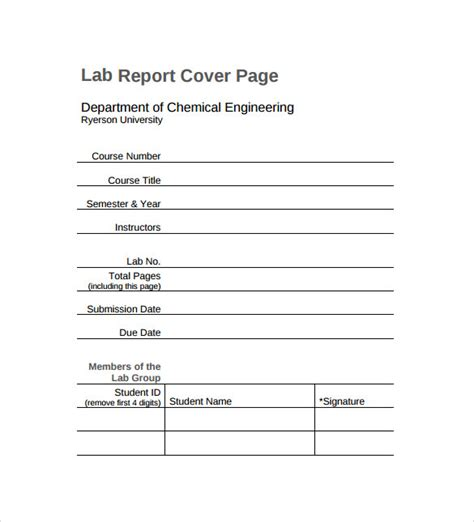 Cover Page For Report Template sle report cover page 11 documents in pdf