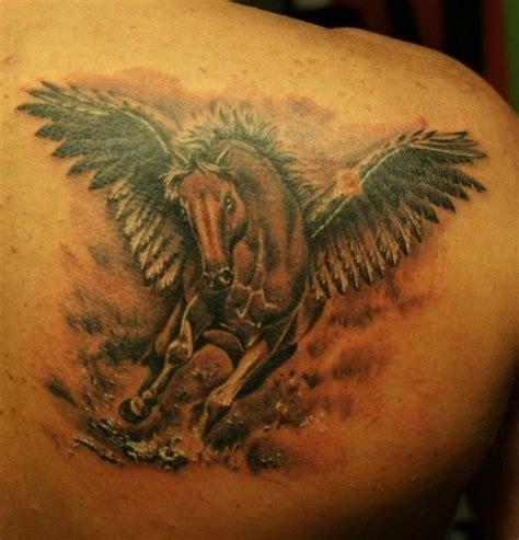 Lovely Pegasus lovely colorful pegasus on back tattooimages biz