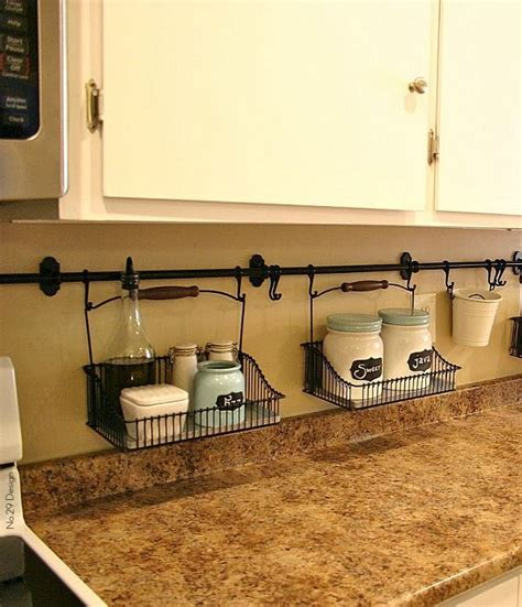 shalllow shelf under cabinets gets stuff off counter ideas for organizing a small kitchen small kitchens