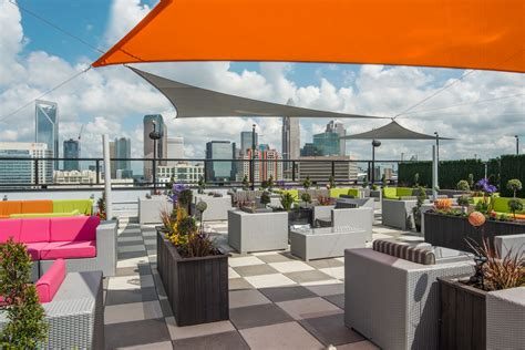 top roof bar check out the view from uptown charlotte s newest rooftop bar