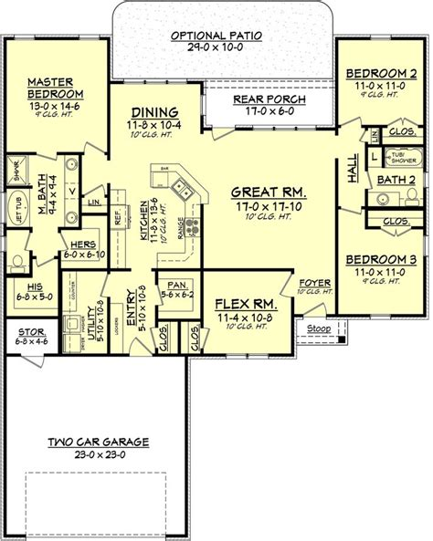floor plans 2500 square feet 2500 square foot traditional home floor plans pinterest