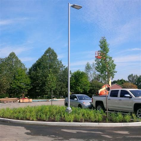 the best parking lot light poles installation company in