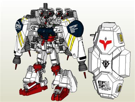 Gundam Papercraft Pdf - papercraft shy0221 rx 78gp02a gundam