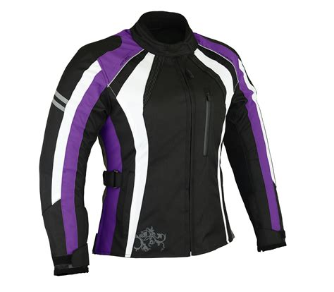 women s motorcycle gear 1 altimate woman s metro black white purple motorcycle jacket