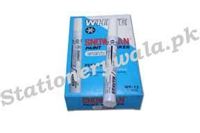 Murah Spidol Snowman Paint Marker White Colour paint marker snowman white stationery wholesalers shopping in pakistan