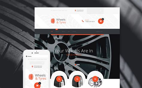 Tires And Wheel Mart Wheels Tires Virtuemart Template 58780