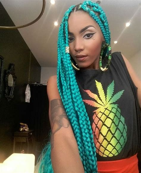 braids with color best 25 colored box braids ideas on blue box