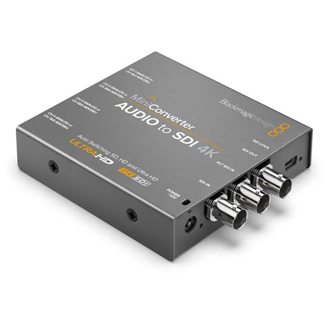 blackmagic format converter blackmagic design mini converter audio to sdi 4k convmcauds4k