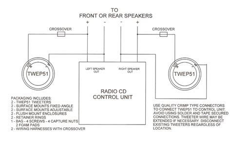 speaker and tweeter wiring diagram 34 wiring diagram