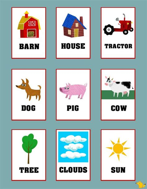printable learning flashcards for toddlers flashcards for toddlers to teach simple words flashcards