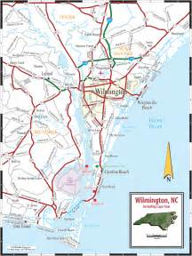 carolina map of coast wilmington nc city map free printable maps