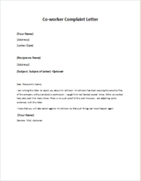 Official Complaint Letter Against Manager Writing A Complaint Letter To My Cover Letter Templates