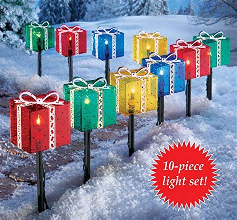 pathway christmas yard candles presents pathway lights wikii