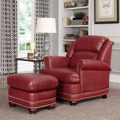faux leather chair and ottoman home styles winston faux leather arm chair with