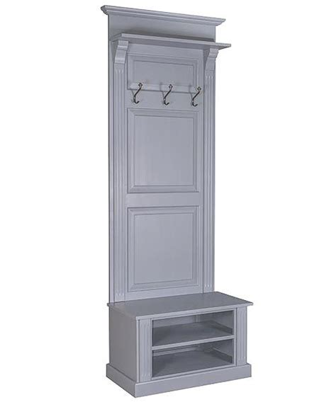 shoe coat storage narrow panelled stand with shoe storage